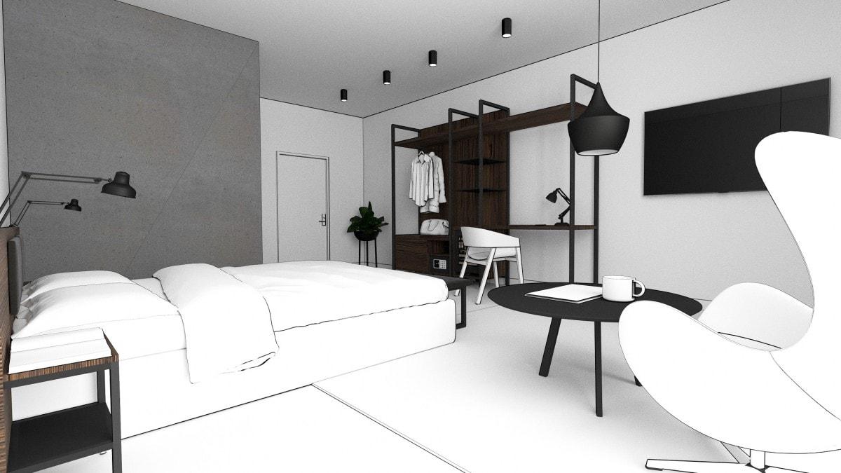 Hotellinredning, hotellmöbler, hotellserier, möbler till