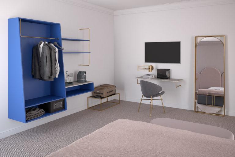 möbler för hotellrum